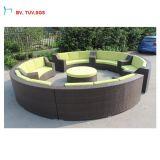 Sofà esterno della mobilia esterna di vimini
