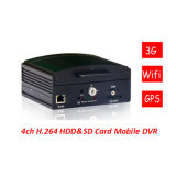 DVR mobile Car DVR 2 Channel 4 Channel avec le GPS