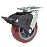 8 Zoll Hochleistungsschwenker PU-Rad-Fußrollen-(mit Nylongesamtbremse)