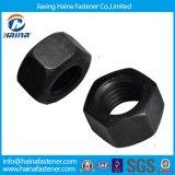 Écrous Hex minces standard de l'acier du carbone HDG/écrous Hex galvanisés blancs bleus/écrous Hex de noir