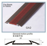 Ongle-Hidden Aluminum Certic, Carpet, 8~12mm Flooring Accessories de LGA Series Rubber Inlay