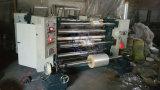 Papel de aluminio que raja y máquina el rebobinar