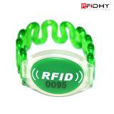 Wristband material del silicón/de la tela/Nylon/ABS/PVC/Paper RFID