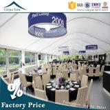 25m de la tente en aluminium imperméable à l'eau de partie de dôme d'armature de 40m pour le banquet