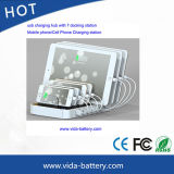 стыковка зарядной станции USB 7-Port на iPhone 7, iPhone 6, iPad