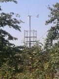 projeto horizontal do híbrido do moinho e da célula solar de vento 2kw