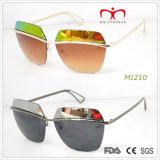 Le plus défunt modèle de la mode 2015 pour les lunettes de soleil en métal de dames (MI210-MI211)