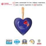En forma de corazón caja de regalo de estaño (H001-V1)