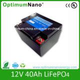 Tipo batería LiFePO4 de 12volt 40 ah de la batería de litio para la UPS y la Sistema Solar