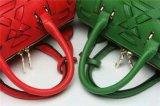 Saco de mão de couro das mulheres da forma em três cores das tendências