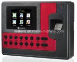 O sistema biométrico do comparecimento do tempo com o leitor de cartão do leitor de cartão RFID de ID/MIFARE personaliza a função
