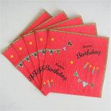 Салфетки украшения вечеринки по случаю дня рождения бумажные