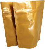Верхний мешок кофеего алюминиевой фольги плоского дна ранга с клапаном