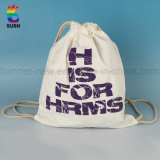 絹の印刷カスタム絶妙な袋の綿のFabriceのドローストリング袋(SSdB5)
