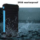 Ipx6 imperméabilisent 2 le côté d'énergie solaire d'USB 8000mAh avec DEL SOS pour des smartphones