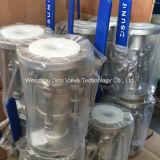 3PC ISO는 플랜지 끝 공 벨브를 진공 청소기로 청소한다