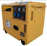 Conjunto de gerador a diesel refrigerado por ar portátil silencioso