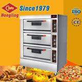 El horno comercial de la pizza de las mejores de la venta de la capacidad grande 3 bandejas de la cubierta 9
