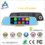 "1080P volles HD Spiegel hintere Ansicht Dashcam 7 "" Touch Screen androider GPS Bluetooth FM"
