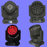 DMX Zoom 19x15W Bee Eye Moving Head LED Luz de Palco