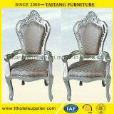Haltbarer luxuriöser Goldkönig Chair für Braut und Bräutigam