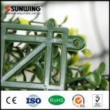 Parete gialla artificiale rivestita della rete fissa del foglio del PVC del giardino esterno
