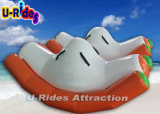 Single Inflatable Water Teeter Totter Game on Sea