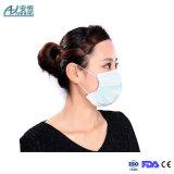 Máscara protetora não tecida cirúrgica da enfermeira de Disposbale de 3 dobras para o hospital