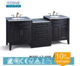 Doppelte Wäsche-Bassin-Eichen-Holz-hängende Badezimmer-Schränke/sich hin- und herbewegende Badezimmer-Eitelkeit