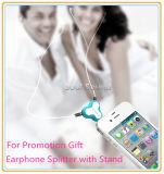Рекламирующ подарок для стойки телефона Splitter наушника (ID382)