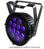 La IGUALDAD al aire libre de IP65 DMX 512 puede 12*18W RGBWA 6 ULTRAVIOLETA en 1 luz plana de la IGUALDAD del LED