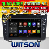 Carro DVD GPS do Android 5.1 de Witson para Honda CRV 2006-2010 com sustentação do Internet DVR da ROM WiFi 3G do chipset 1080P 16g (A5789)