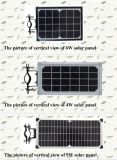 9W-B tout dans une lumière solaire de jardin du réverbère DEL