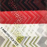 Tela de nylon do laço do ziguezague colorido para o vestido