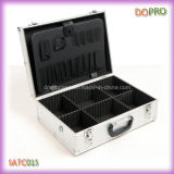 Caja de herramientas portable del peluquero de la maneta negra al por mayor del color (SATC015)