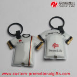 Batterie Clothes Shape PVC Souvenir Keychain mit LED Light