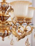 Bronzeluxuriöse Glasleuchter-Kristallbeleuchtung für Wohnzimmer-Dekoration D-6131/3