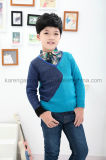 子供のV首の対照カラー資本のセーター