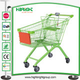 European Style Metal Store Supermarket Shopping Trolley Cart