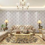 Sala de estar clásica de lujo inconsútil del dormitorio de la tela del papel pintado de Jcc que graba