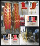 安いレストランの金属PUの革宴会の椅子