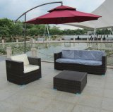 Weißer Garten-Patio im Freienpet Rattan-Sofa-Sets