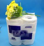 Kltt-004 papier de toilette bon marché de 2 plis dans les paquets 4rolls