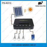 Mini système de d'éclairage à la maison solaire avec le chargeur de téléphone mobile