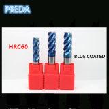 herramientas eléctricas revestidas azules de los cortadores del carburo HRC60 de 10m m