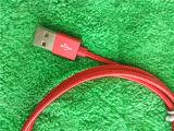 빨간색 Andrews를 위한 알루미늄 마이크로 컴퓨터 USB 충전기 Sync 데이터 케이블