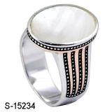Goedkope Prijs 925 van de Modellen van de fabriek In het groot Nieuwe de Zilveren Ring van de Mens