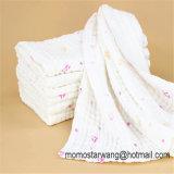 La manta promocional al por mayor de la muselina del bebé de la impresión Swaddle la manta en China