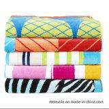 Одеяло 100% пляжа полотенца пляжа жаккарда хлопка с высоким качеством