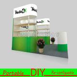 Творческая изготовленный на заказ портативная модульная конструкция будочки выставки индикации торговой выставки